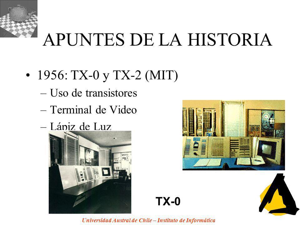 APUNTES DE LA HISTORIA 1956: TX-0 y TX-2 (MIT) Uso de transistores