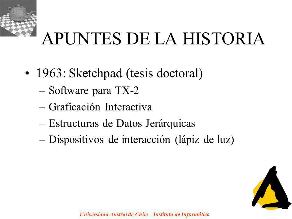APUNTES DE LA HISTORIA 1963: Sketchpad (tesis doctoral)