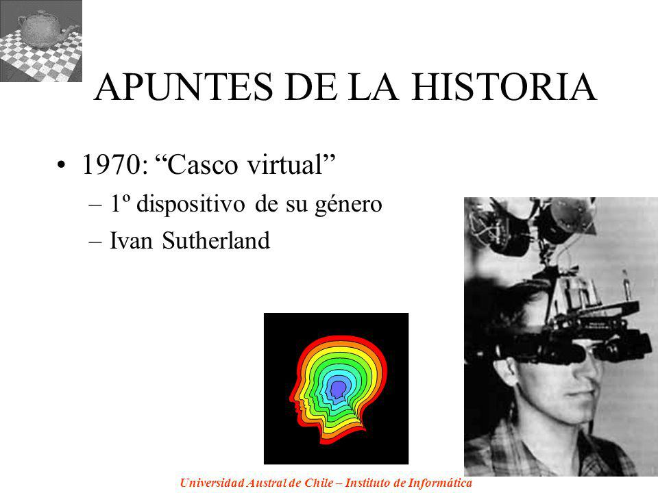 APUNTES DE LA HISTORIA 1970: Casco virtual