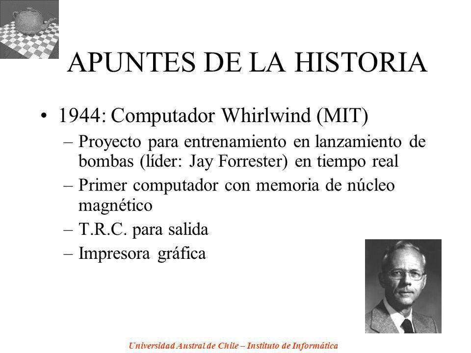 APUNTES DE LA HISTORIA 1944: Computador Whirlwind (MIT)