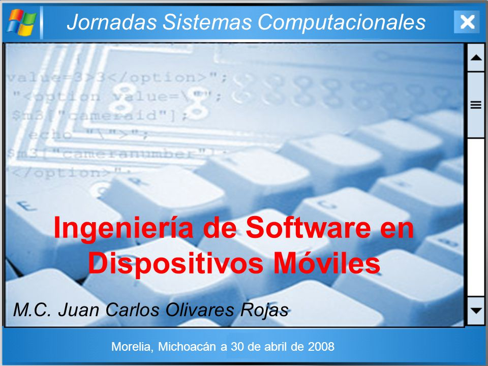 Ingeniería de Software en Dispositivos Móviles
