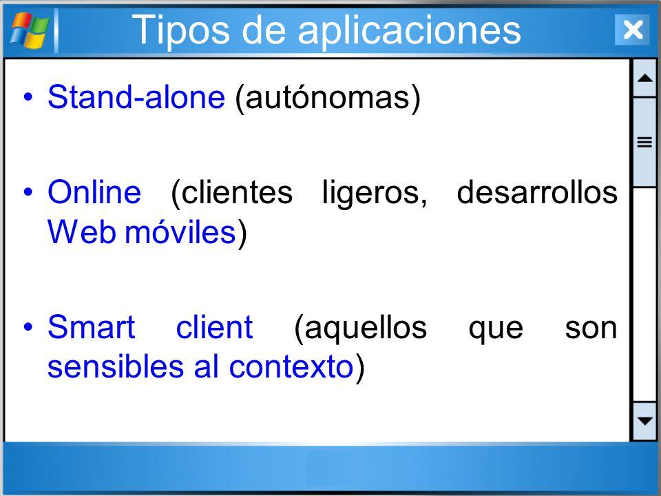 Tipos de aplicaciones Stand-alone (autónomas)