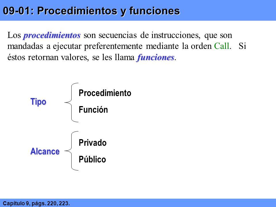 09-01: Procedimientos y funciones
