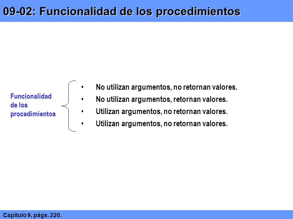 09-02: Funcionalidad de los procedimientos