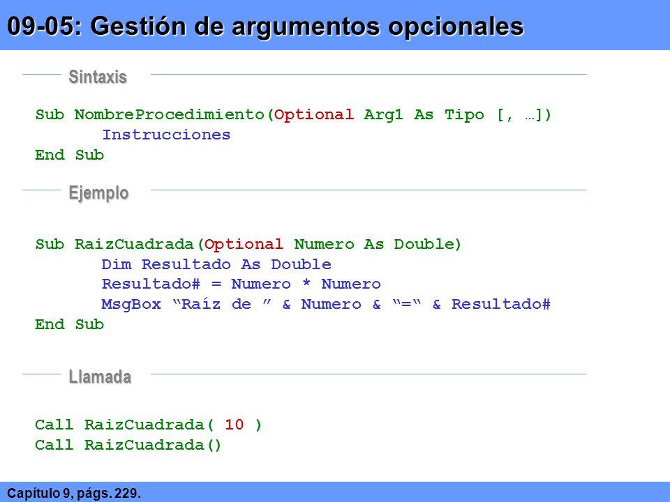 09-05: Gestión de argumentos opcionales