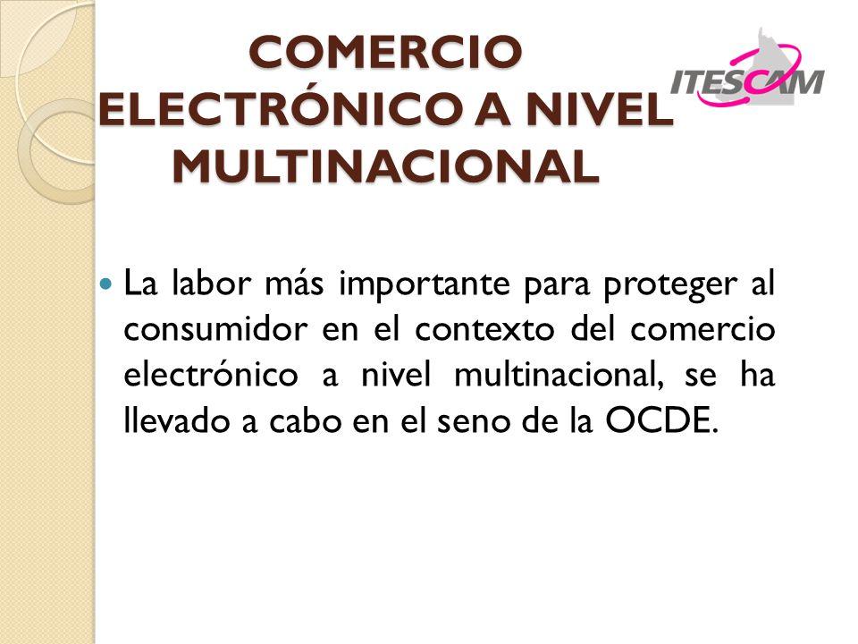 COMERCIO ELECTRÓNICO A NIVEL MULTINACIONAL