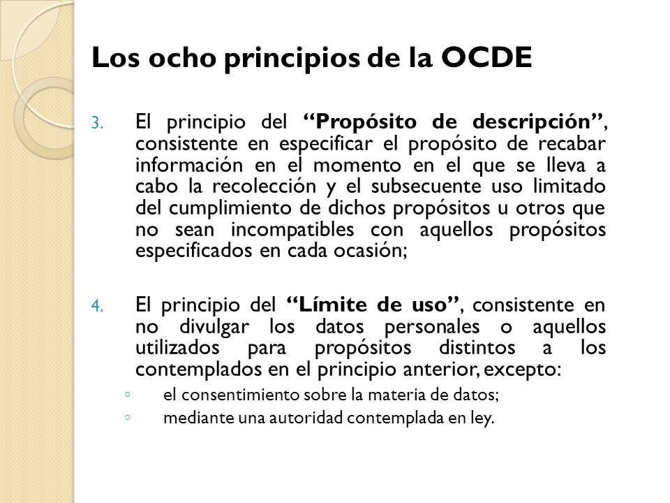 Los ocho principios de la OCDE