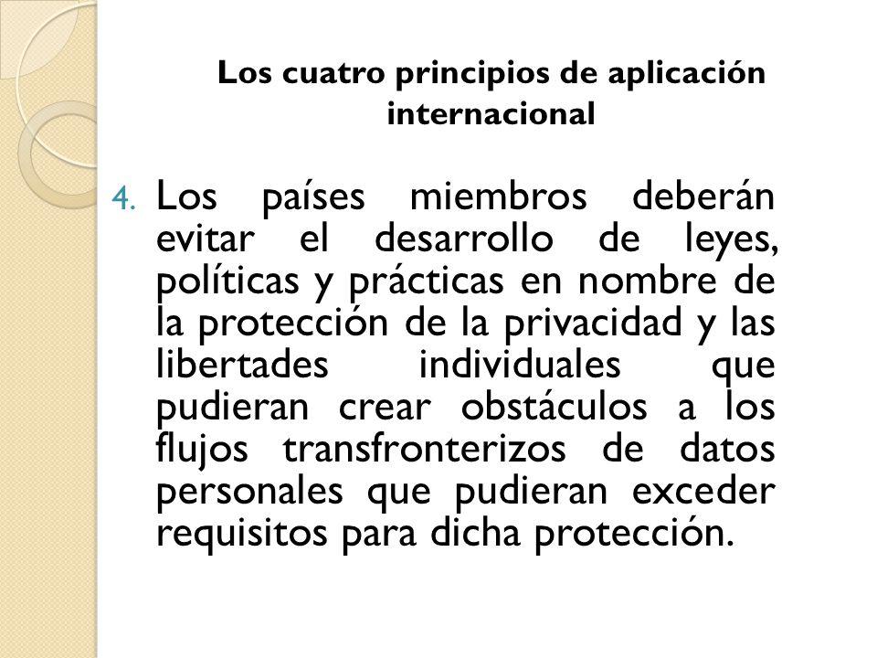Los cuatro principios de aplicación internacional