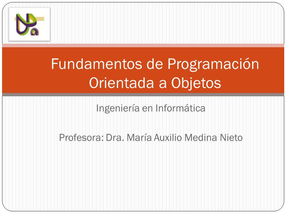 Fundamentos de Programación Orientada a Objetos