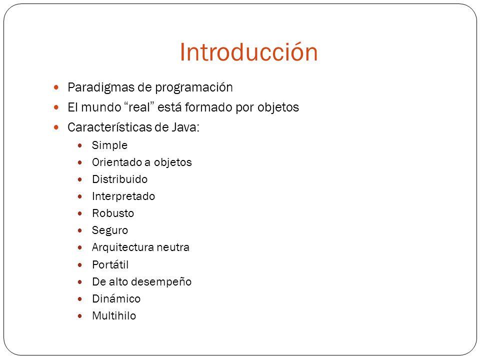 Introducción Paradigmas de programación