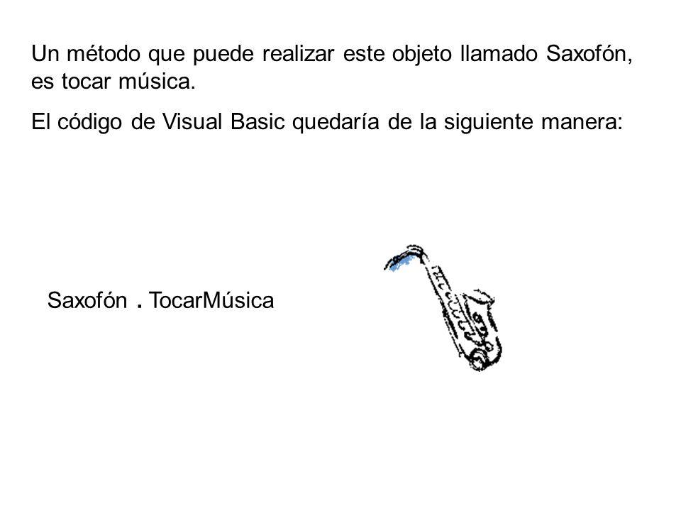Un método que puede realizar este objeto llamado Saxofón, es tocar música.