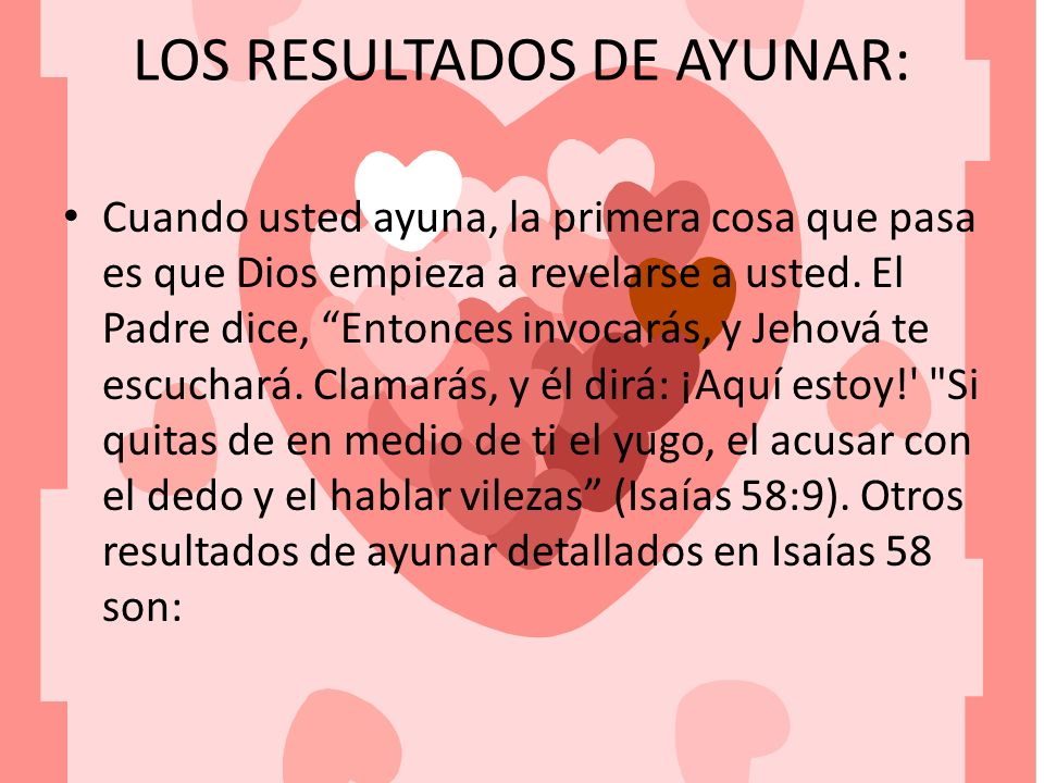 LOS RESULTADOS DE AYUNAR: