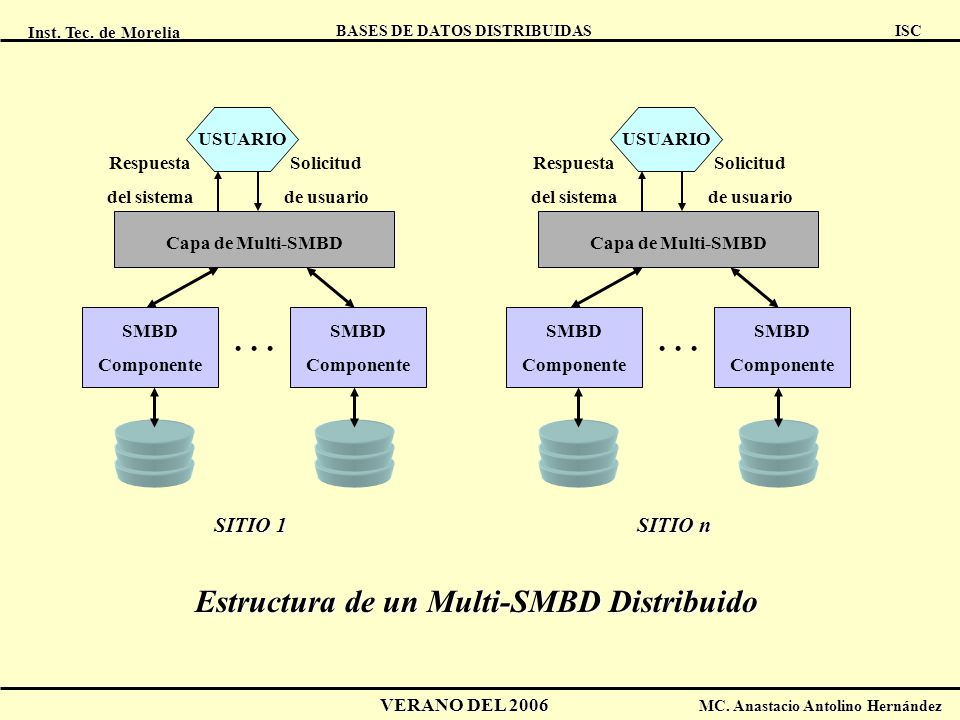 Estructura de un Multi-SMBD Distribuido