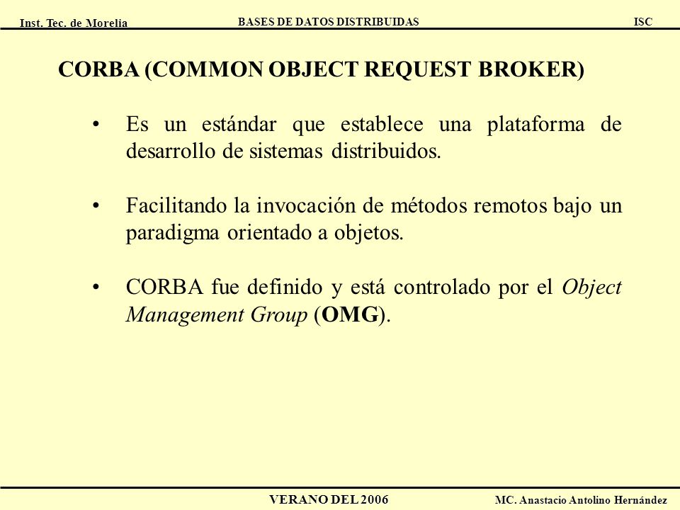 CORBA (COMMON OBJECT REQUEST BROKER)