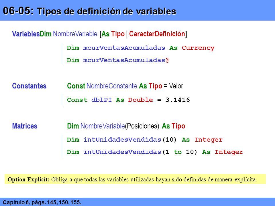 06-05: Tipos de definición de variables