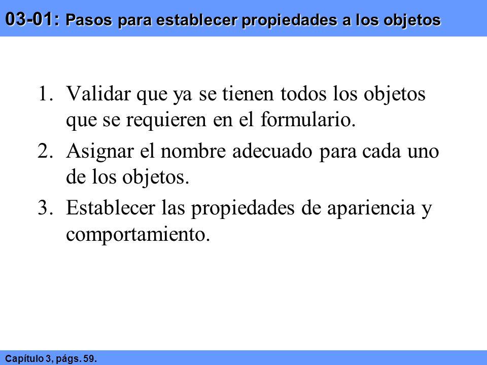 03-01: Pasos para establecer propiedades a los objetos
