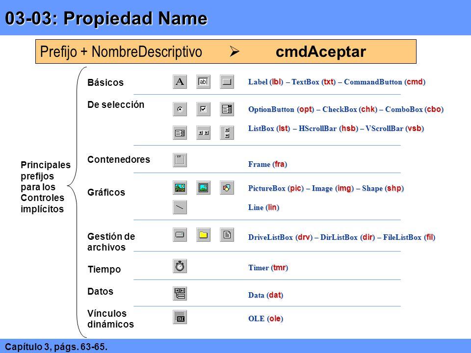 03-03: Propiedad Name Prefijo + NombreDescriptivo  cmdAceptar Básicos