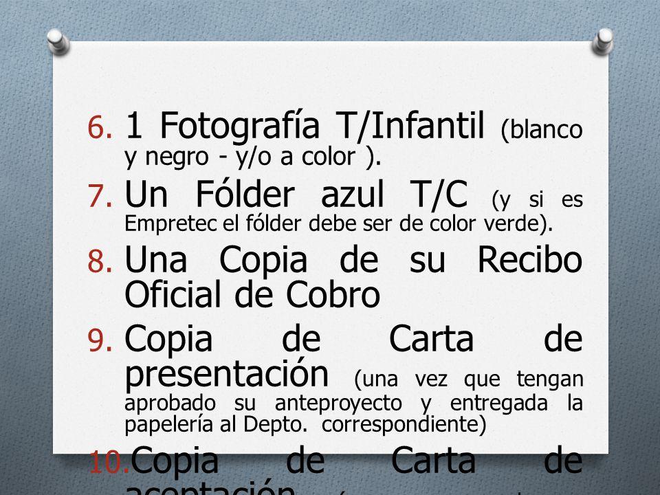 1 Fotografía T/Infantil (blanco y negro - y/o a color ).