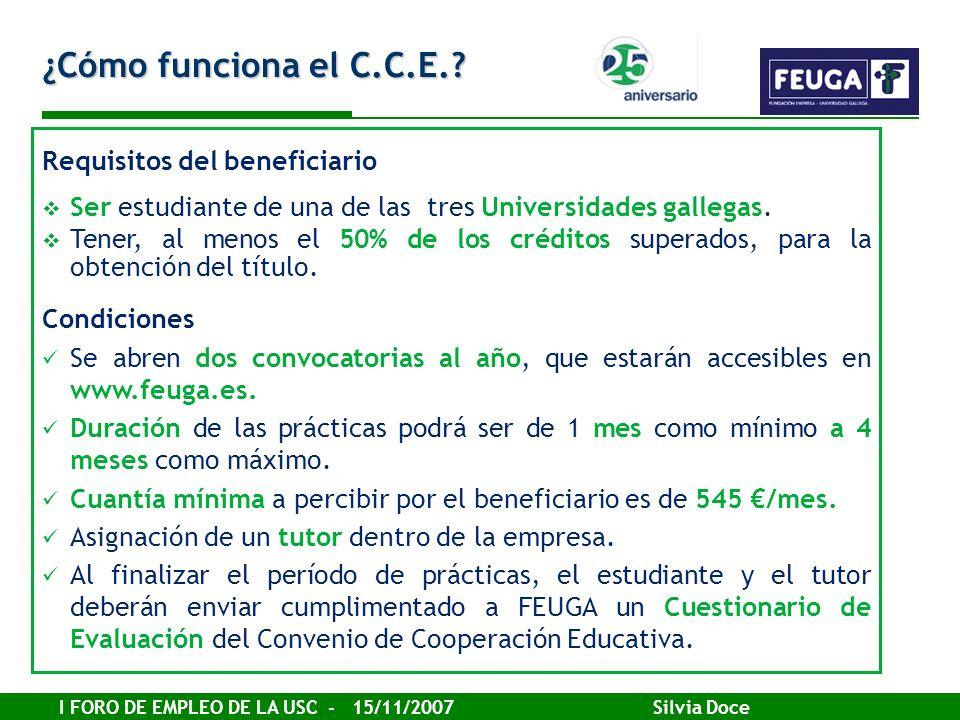 ¿Cómo funciona el C.C.E. Requisitos del beneficiario
