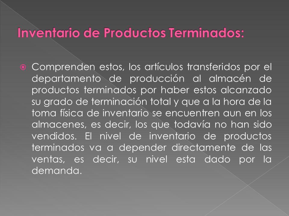 Inventario de Productos Terminados: