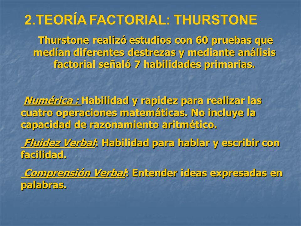 2.TEORÍA FACTORIAL: THURSTONE