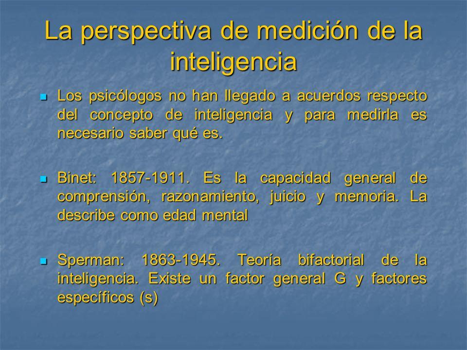 La perspectiva de medición de la inteligencia