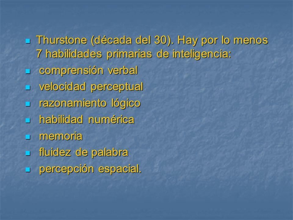 Thurstone (década del 30)