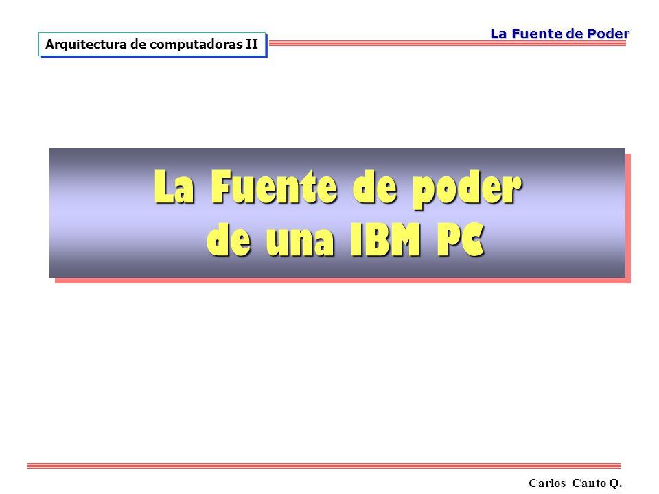 La Fuente de poder de una IBM PC