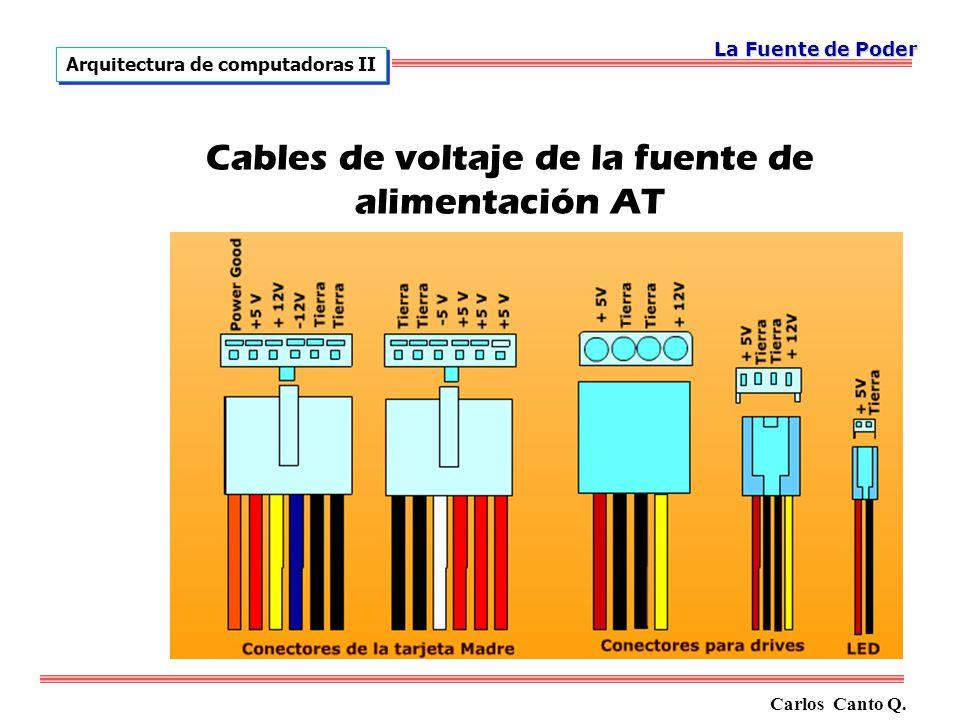 Cables de voltaje de la fuente de alimentación AT