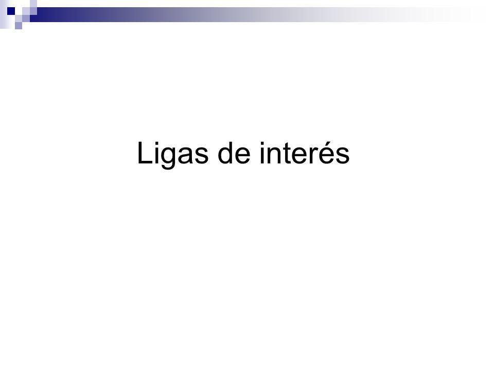 Ligas de interés
