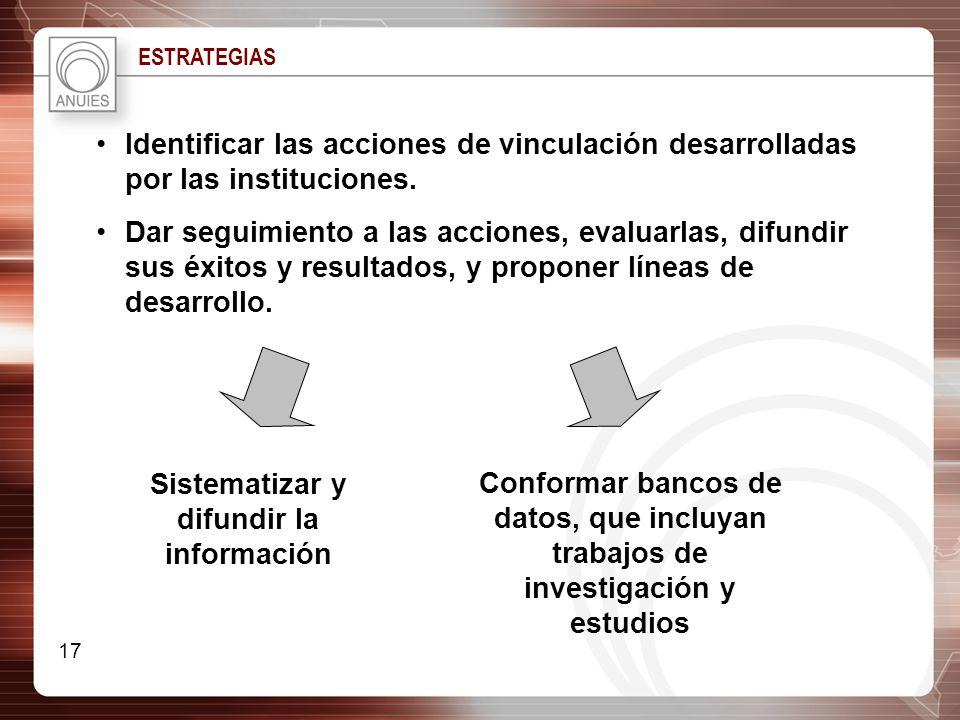 Sistematizar y difundir la información