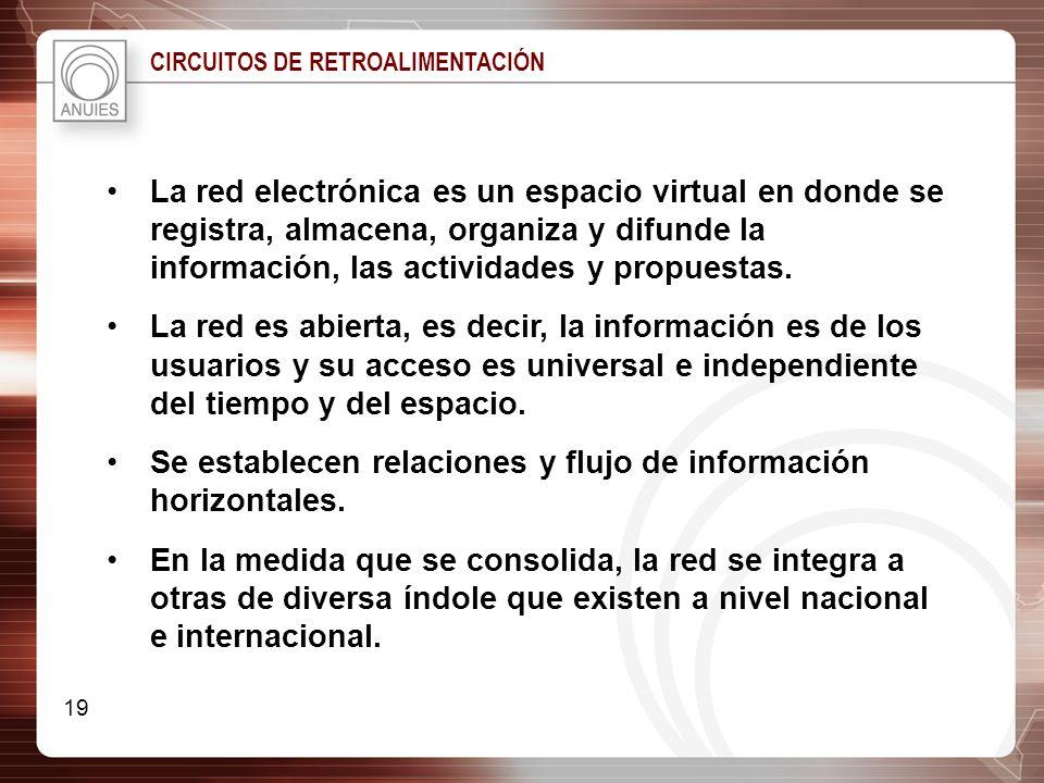 Se establecen relaciones y flujo de información horizontales.