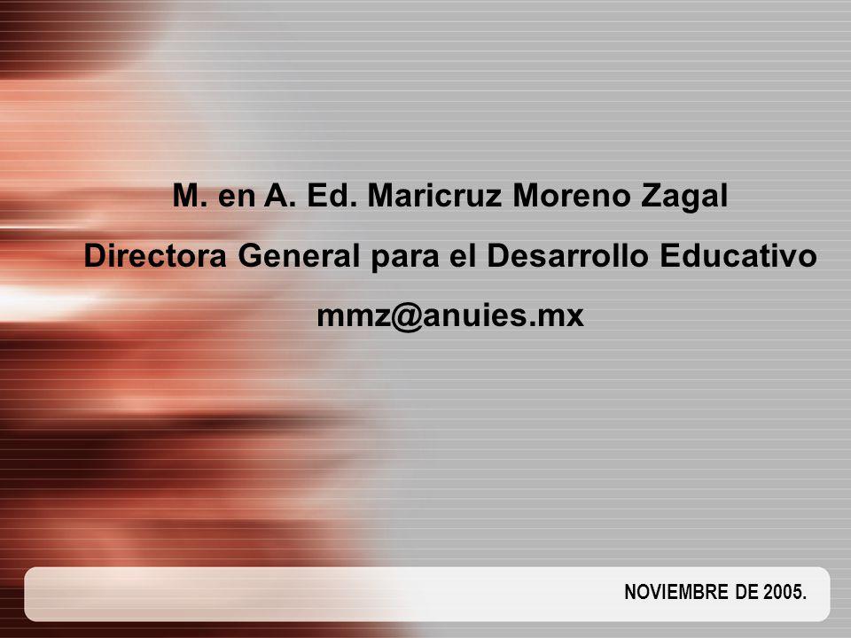 M. en A. Ed. Maricruz Moreno Zagal