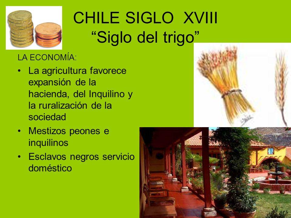 CHILE SIGLO XVIII Siglo del trigo