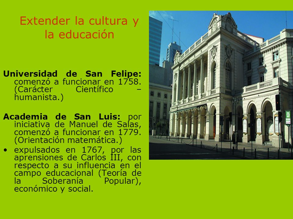 Extender la cultura y la educación