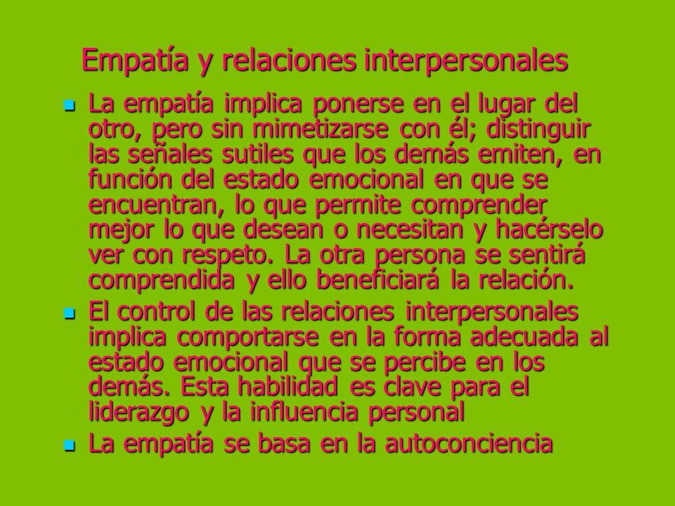Empatía y relaciones interpersonales