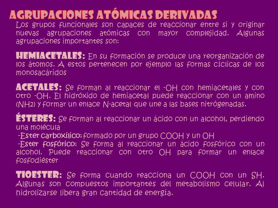 Agrupaciones atómicas derivadas