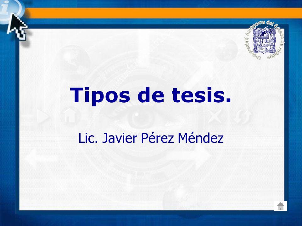 Lic. Javier Pérez Méndez