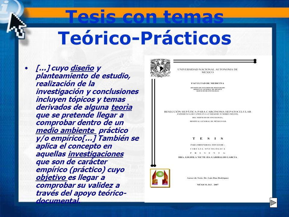 Tesis con temas Teórico-Prácticos