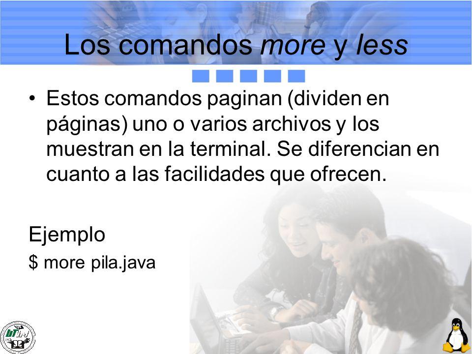 Los comandos more y less