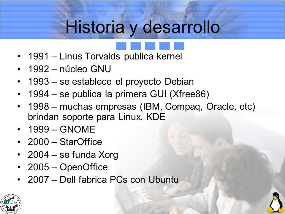 Historia y desarrollo 1991 – Linus Torvalds publica kernel