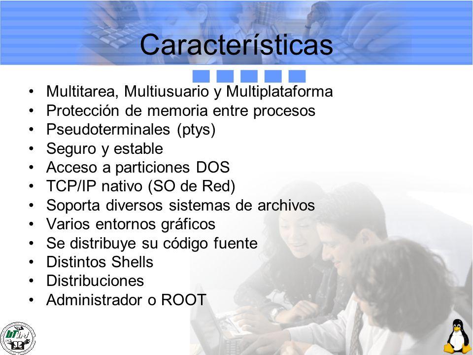 Características Multitarea, Multiusuario y Multiplataforma