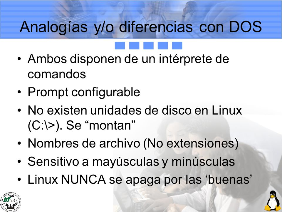 Analogías y/o diferencias con DOS