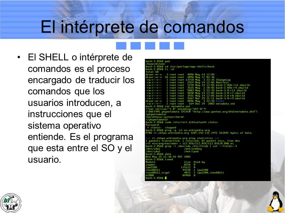 El intérprete de comandos