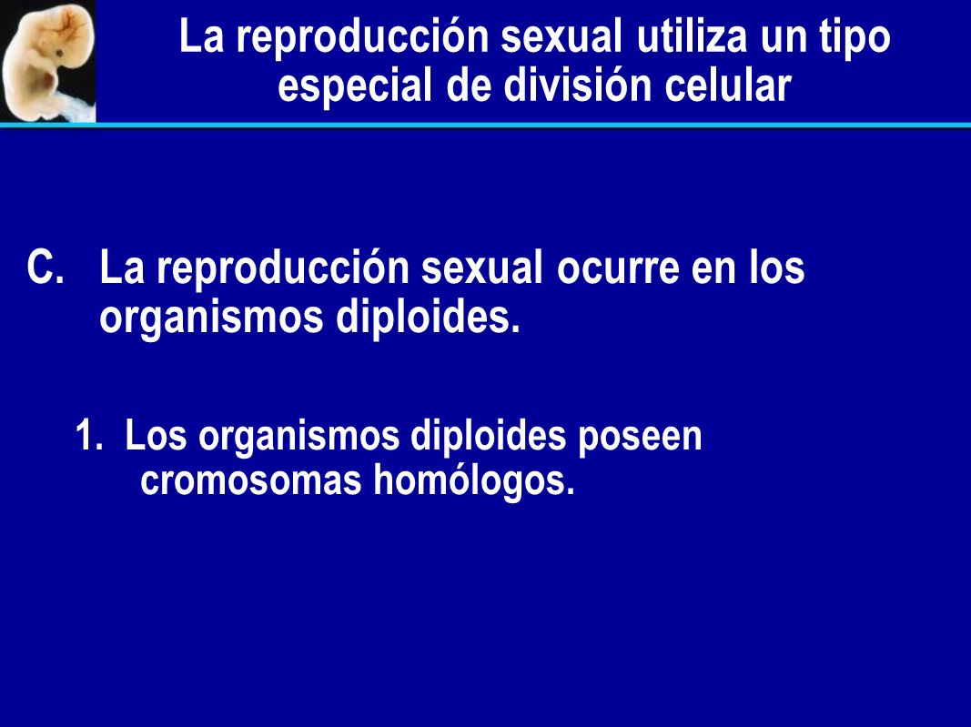La reproducción sexual utiliza un tipo especial de división celular