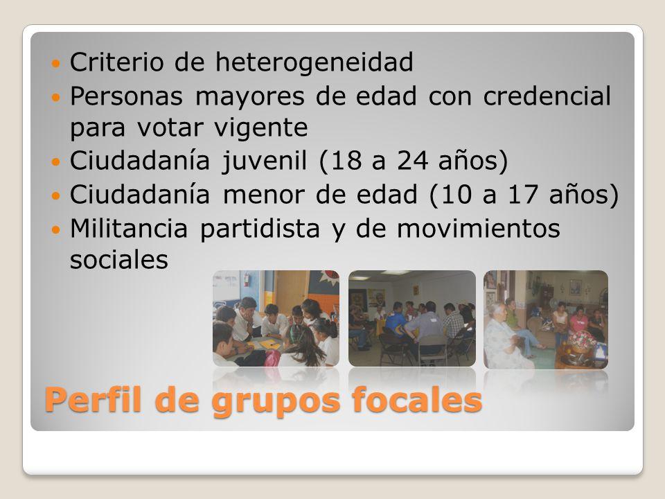 Perfil de grupos focales