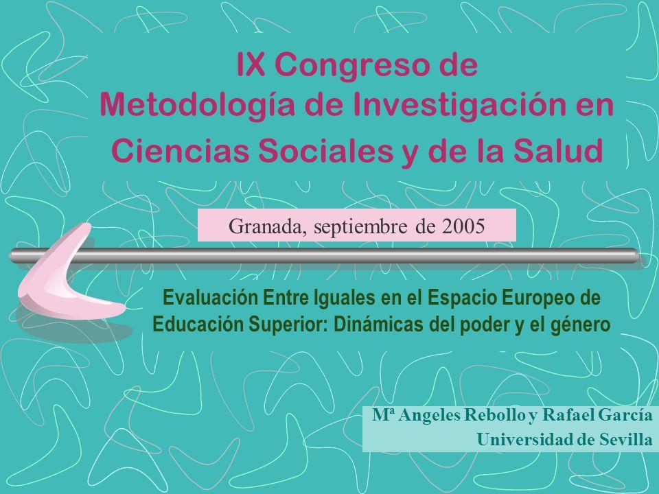 IX Congreso de Metodología de Investigación en Ciencias Sociales y de la Salud