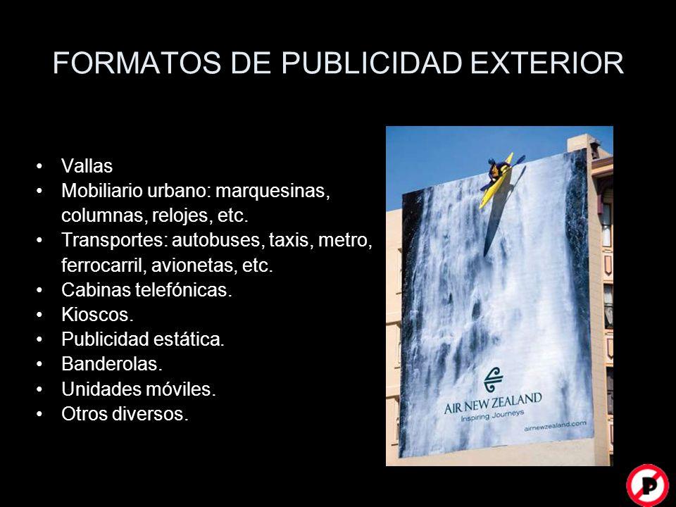 FORMATOS DE PUBLICIDAD EXTERIOR