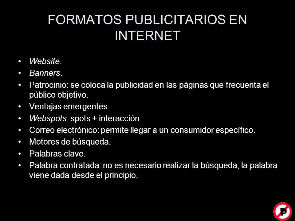 FORMATOS PUBLICITARIOS EN INTERNET