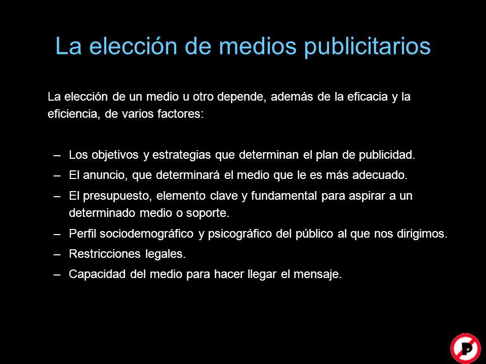 La elección de medios publicitarios